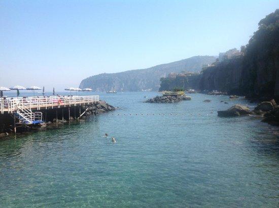 Grand Hotel Riviera: Badesteg