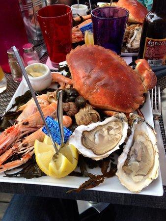 Restaurant < La Criee > Brasserie: Assiette fruits de mer