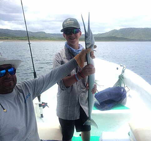 Papagayo Gulf Sport Fishing - North Pacific Tours: Having a little fun catching a needle fish!