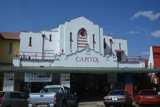 The River Club: The beautiful Capitol theatre in downtown Livingstone