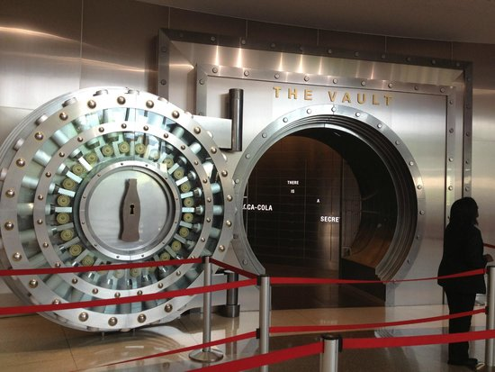 World of Coca-Cola: The entrance to the vault with the secret formula.