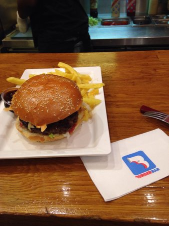 Burger Bar: Exemple d'assiette