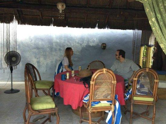Hacienda San Pedro Nohpat: patio (arrière)