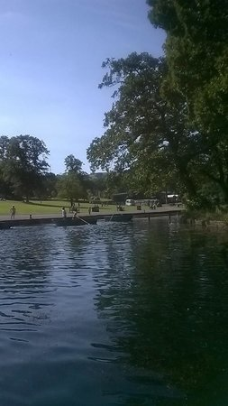 Shibden Hall: This is the boat lake. the pic was taken from inside the canoe.
