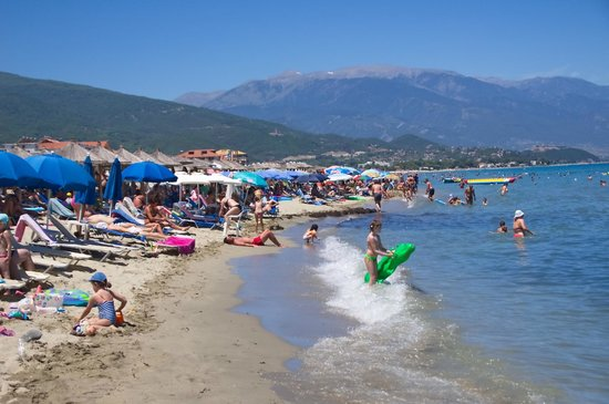 The sand beach in Nei Pori very close to Hotel Zeus
