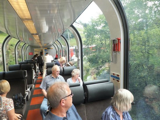 Bernina Express: From inside the carriage