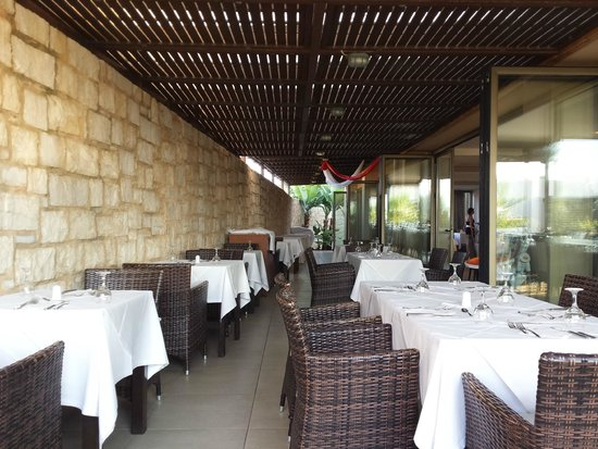Stella Palace Resort & Spa: terrasse couverte