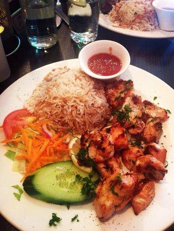 Rowsha: Chicken shish with rice