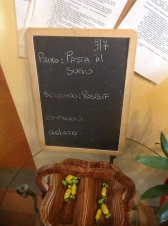 Agriturismo Savernano: menu