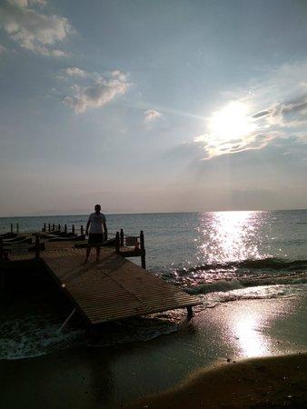Halic Park Dikili: gün batımı iskele