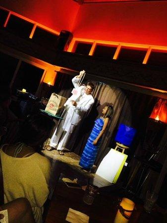 Kona Kozy's Comedy & Magic Show: Kona Kozy lassoes the selected card