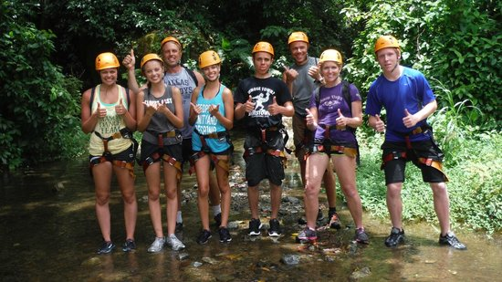 Rocaliza Adventure Tours: Our group at end of adventure