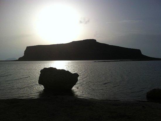 Balos Beach and Lagoon : Sunset in Balos