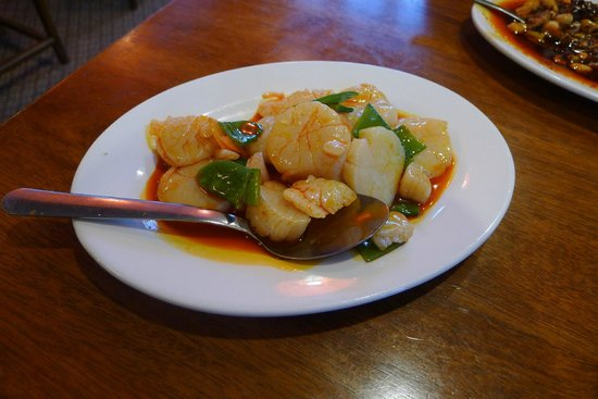 Szechuan House: Spicy scallops