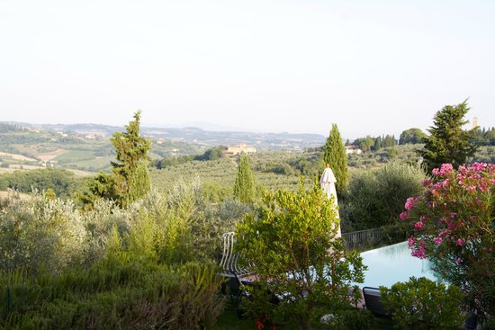 Villa Talente: View on the pool and the valley