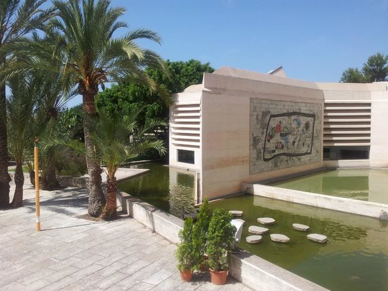 Pilar and Joan Miro Foundation in Mallorca: outside view
