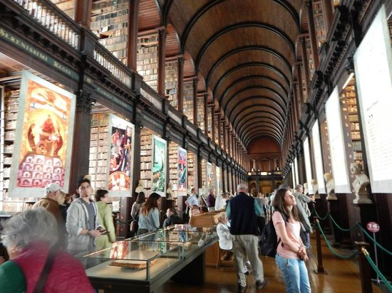 The Book of Kells and the Old Library Exhibition: Library with Very Old Books