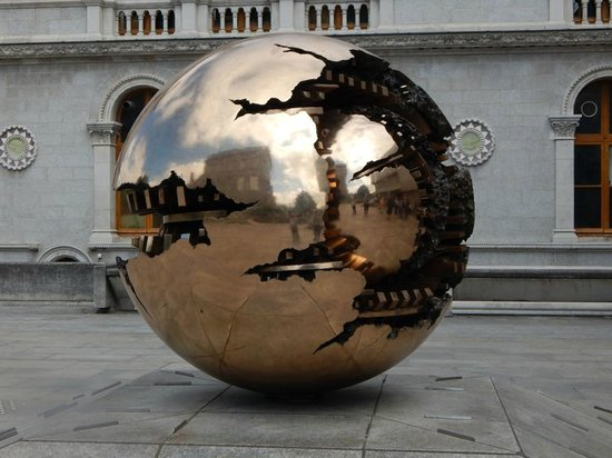 The Book of Kells and the Old Library Exhibition : Huge Revolving and Changing Globe in the Nearby Area