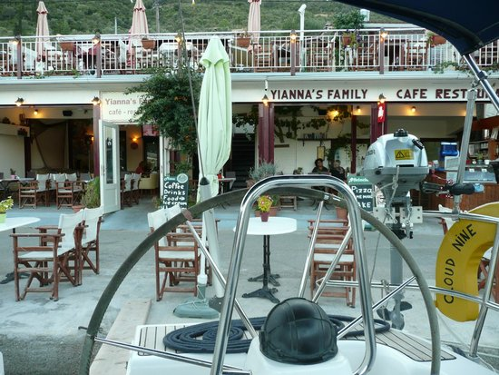 Family - Snack Bar and Restaurant: Yiannas from the boat, September 2013
