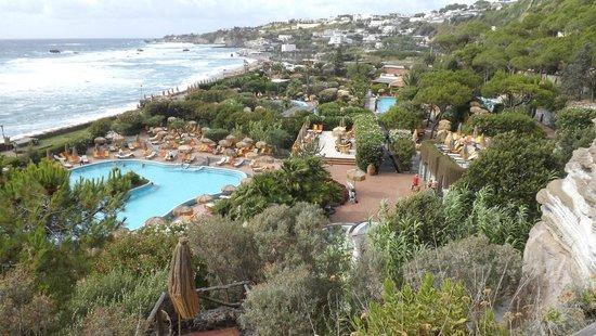 Giardini Poseidon Terme: vista da therme poseidom