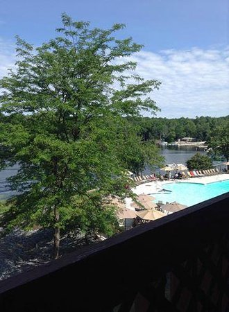Woodloch Pines Resort: The view from our room.