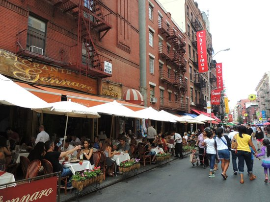 this picture is just Little Italy, not where we had lunch