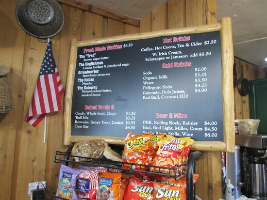 Corbets Cabin : The menu and prices