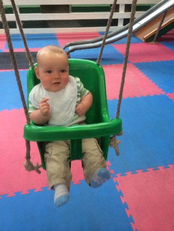 Parsons Green Holiday Park: My son enjoying the indoor playground