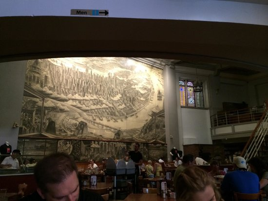 John's of Times Square : Main dining hall, lower level
