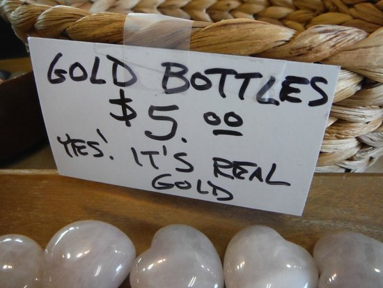 Elijah Mountain Gem Mine: Gold Bottles