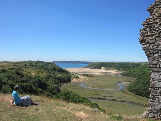 Pennard Castle: Fantastic view from the castle