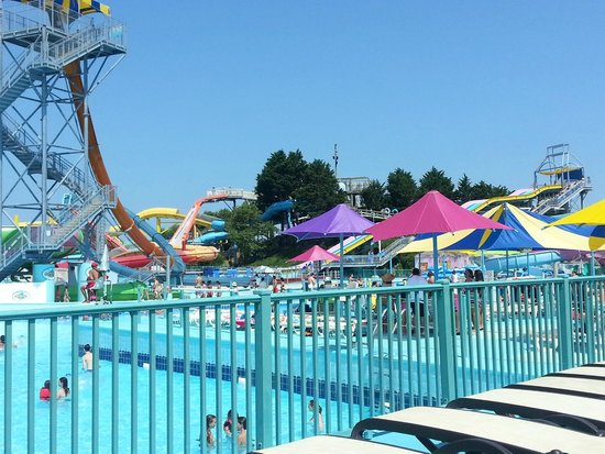 Hilton Suites Ocean City Oceanfront: Water Park Across the Street