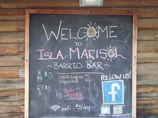 Isla Marisol Resort: Bar Sign