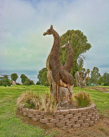 Sea Pines Golf Resort : One of several statues on ground