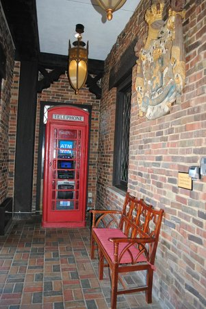 The Cheshire: telephone booth near entrance of hotel