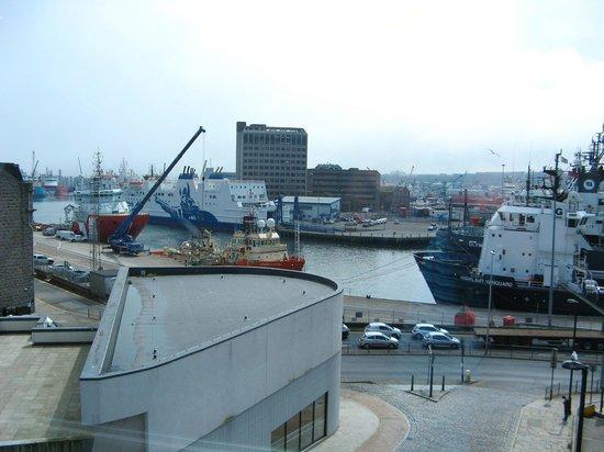 Aberdeen Maritime Museum: view of harbour from top floor of museum