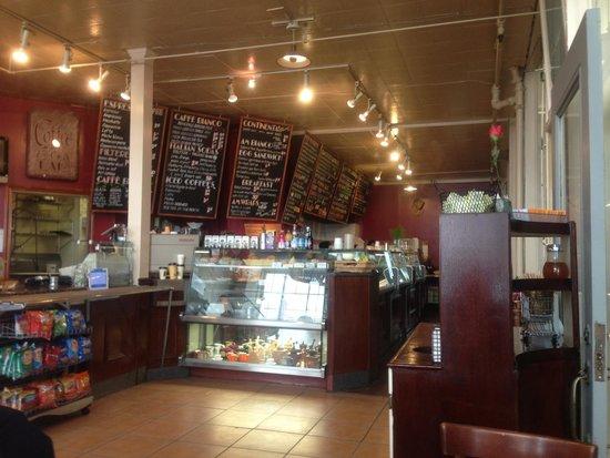 Caffe Bianco : Intérieur du café