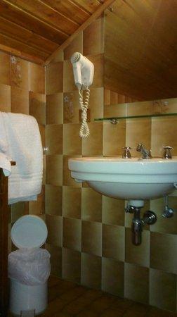 Hotel Corona Ferrea: Bathroom corner