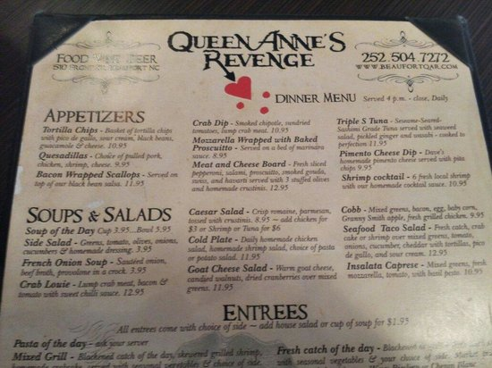 Queen Anne's Revenge: Top menu