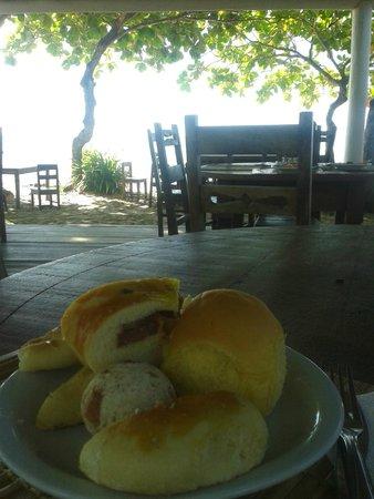 Aquarela Praia: Vista do restaurante (café da manhã)