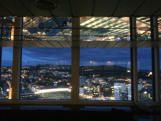 Radisson Blu Plaza Hotel, Oslo: Night view from the pool
