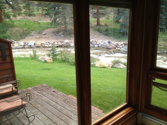 Boulder Brook on Fall River : View from in-room spa tub