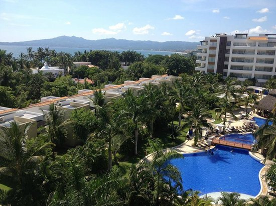 Marival Residences Luxury Resort Nuevo Vallarta: view from the rooftop restaurant