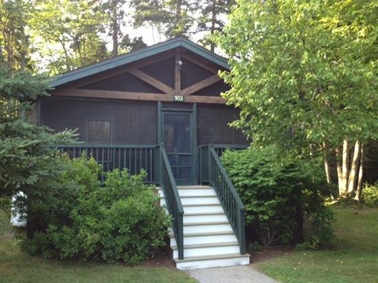 Point Lookout: Front side of the cabin
