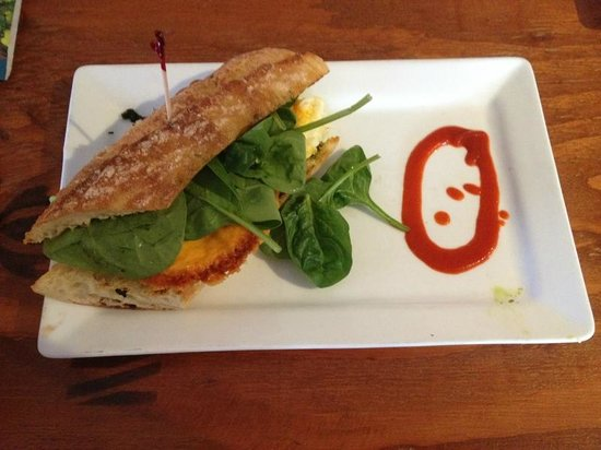 Opus Espresso & Food Bar: Breakfast sandwich