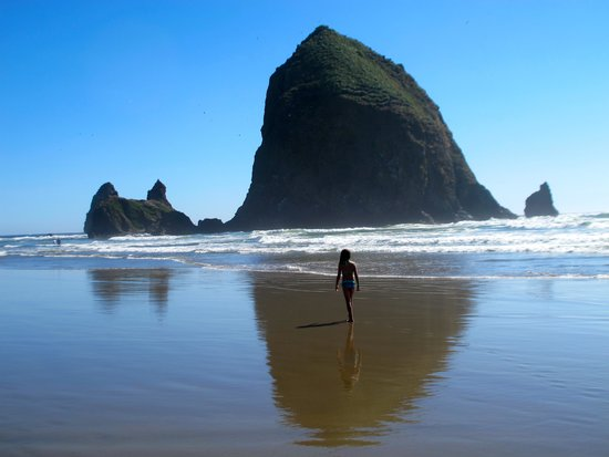 Land's End at Cannon Beach: Haystack Rock-1 mile from hotel