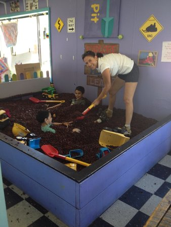 The Trailhead Children's Museum: The dig pit
