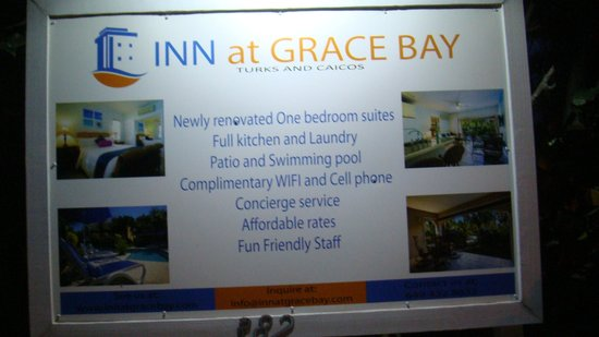 Inn at Grace Bay: Sign out front of Property