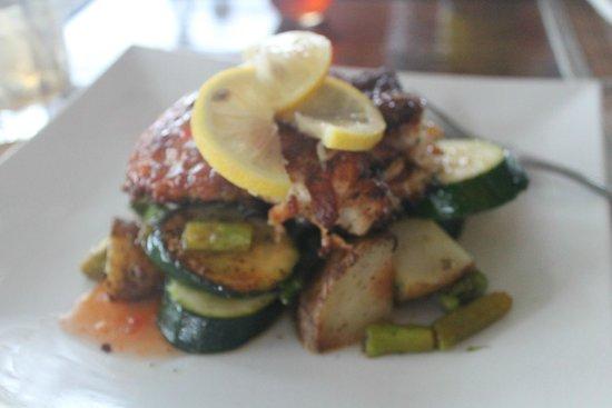 The Rainbow Inn Seafood & Steak House : Parmesan crusted fish