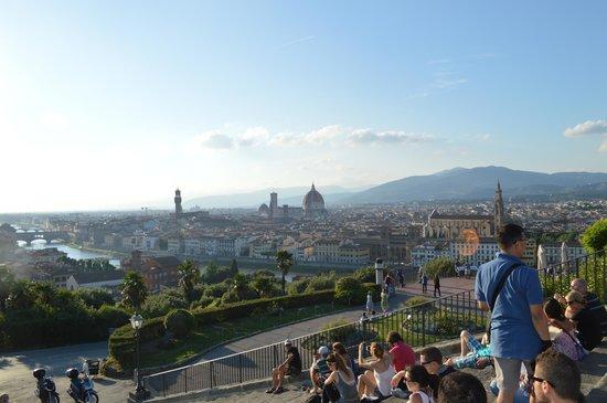 Piazzale Michelangelo: vista da praça